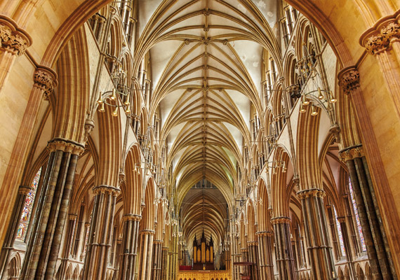 Inside Lincoln Cathedral.