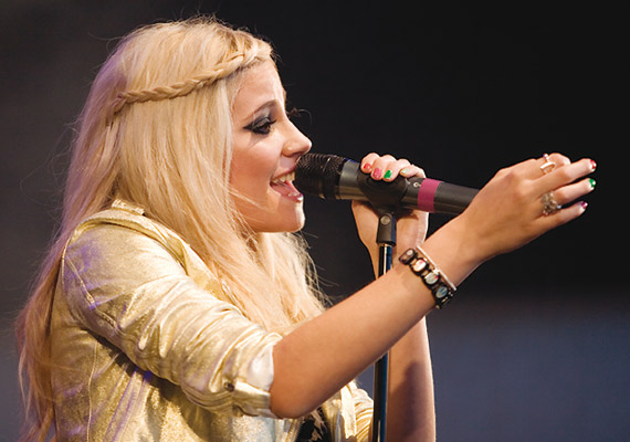 Pixie Lott performs at the Tramlines Music Festival