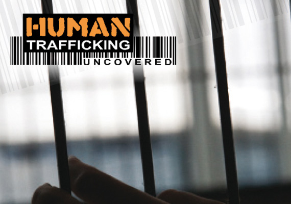 Four page brochure to highlight the crime of Human Trafficking.