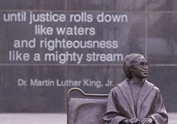 Rosa Parks statue, Dallas, Texas.